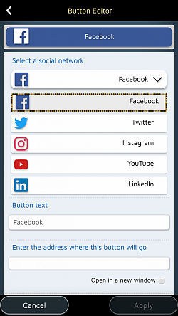 Create dedicated buttons to invite your readers to your social networks